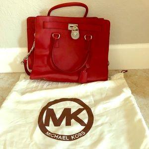 Michael Kors Hamilton Bag in Red